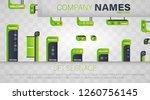 set signage. a set of... | Shutterstock .eps vector #1260756145