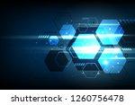 abstract geometric hexagon...   Shutterstock .eps vector #1260756478