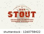 stock vector serif font and... | Shutterstock .eps vector #1260758422