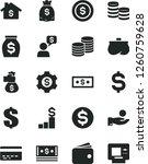 solid black vector icon set  ... | Shutterstock .eps vector #1260759628