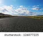 nice country road with blue sky ... | Shutterstock . vector #126077225