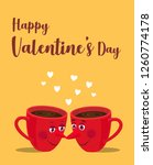 a 'happy valentine's day' card... | Shutterstock .eps vector #1260774178