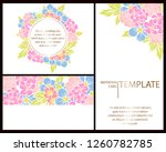 romantic wedding invitation... | Shutterstock . vector #1260782785