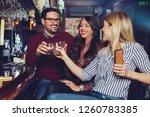 friends got together after work ... | Shutterstock . vector #1260783385