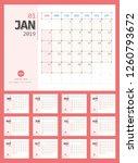 vector of 2019 new year...   Shutterstock .eps vector #1260793672