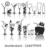different kinds of glasses with ... | Shutterstock .eps vector #126079595