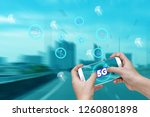 5g network interface and icon... | Shutterstock . vector #1260801898
