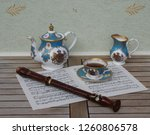 english teacup with saucer ... | Shutterstock . vector #1260806578