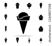 ice cream in a waffle horn icon.... | Shutterstock . vector #1260807208
