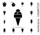 ice cream in a waffle horn icon.... | Shutterstock . vector #1260807235