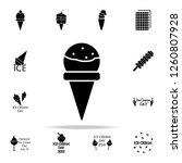 frozen ball in the horn icon.... | Shutterstock . vector #1260807928