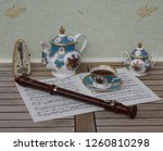 english teacup with saucer ... | Shutterstock . vector #1260810298
