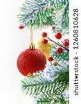 christmas background. happy new ... | Shutterstock . vector #1260810628