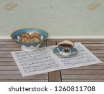 english teacup with saucer and... | Shutterstock . vector #1260811708