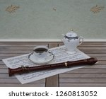 english teacup with saucer and... | Shutterstock . vector #1260813052