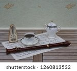 english teacup with saucer and... | Shutterstock . vector #1260813532