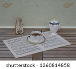 english teacup with saucer and... | Shutterstock . vector #1260814858