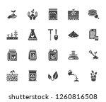 soil testing flat glyph icons... | Shutterstock .eps vector #1260816508