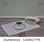 english teacup with saucer and... | Shutterstock . vector #1260817795