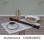 english teacup with saucer and... | Shutterstock . vector #1260818692