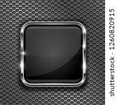 black button frame on... | Shutterstock . vector #1260820915