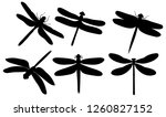 isolated  dragonfly flies  set... | Shutterstock .eps vector #1260827152