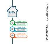 vector infographic template for ... | Shutterstock .eps vector #1260829678
