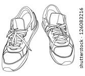 tying sports shoes | Shutterstock .eps vector #126083216