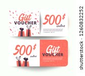 gift voucher template with... | Shutterstock .eps vector #1260832252