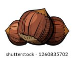 color image of a group of... | Shutterstock .eps vector #1260835702