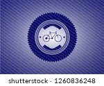bike icon inside emblem with...   Shutterstock .eps vector #1260836248