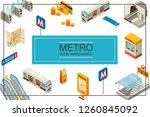 isometric subway concept with... | Shutterstock .eps vector #1260845092