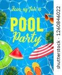 pool party invitation ...   Shutterstock . vector #1260846022