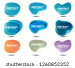 abstract badge template polygon ... | Shutterstock .eps vector #1260852352