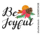 be joyful. lettering with... | Shutterstock .eps vector #1260853438