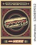 hot dog vintage advertisement... | Shutterstock .eps vector #1260859012