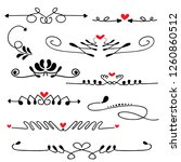 hand drawn sketched line border ... | Shutterstock .eps vector #1260860512