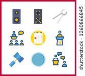 9 workshop icon. vector... | Shutterstock .eps vector #1260866845