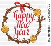 happy new year. festive card... | Shutterstock .eps vector #1260869722