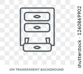 drawers icon. drawers design... | Shutterstock .eps vector #1260869902