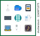 9 portable icon. vector... | Shutterstock .eps vector #1260871375