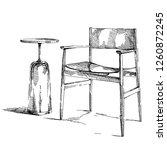 comfortable modern interior... | Shutterstock .eps vector #1260872245