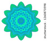 oriental mandala. vintage... | Shutterstock .eps vector #1260873598