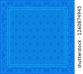 floral geometric pattern.... | Shutterstock .eps vector #1260874945
