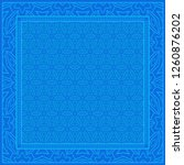 geometric pattern in lace style.... | Shutterstock .eps vector #1260876202