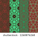 set of ornament with geometric... | Shutterstock .eps vector #1260876268