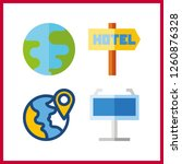 4 continent icon. vector...   Shutterstock .eps vector #1260876328