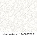 seamless linear pattern with... | Shutterstock .eps vector #1260877825