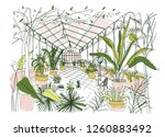 freehand drawing of interior of ... | Shutterstock .eps vector #1260883492