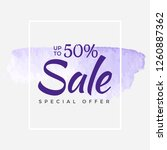 sale final up to 50  off sign... | Shutterstock .eps vector #1260887362